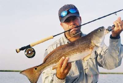 Louisiana Fly Fishing For Redfish - Chuck